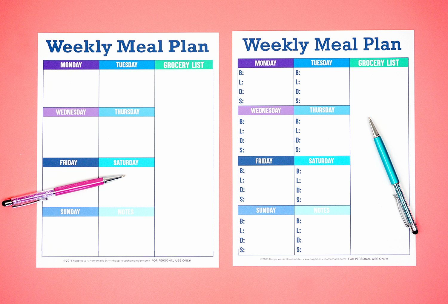 Free Printable Menu Templates Elegant Printable Weekly Meal Planner Template Happiness is Homemade