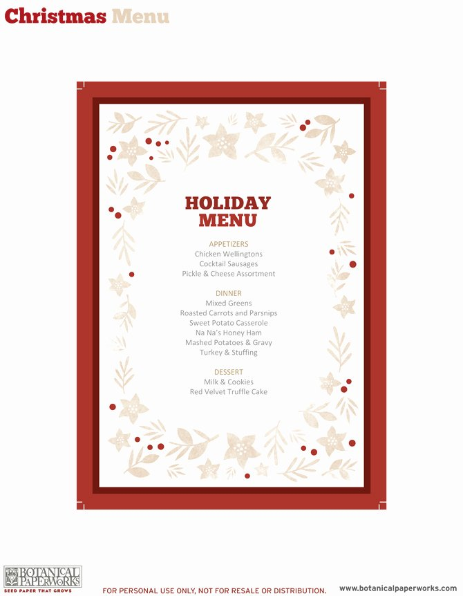 Free Printable Menu Templates New Template Printable Gallery Category Page 21