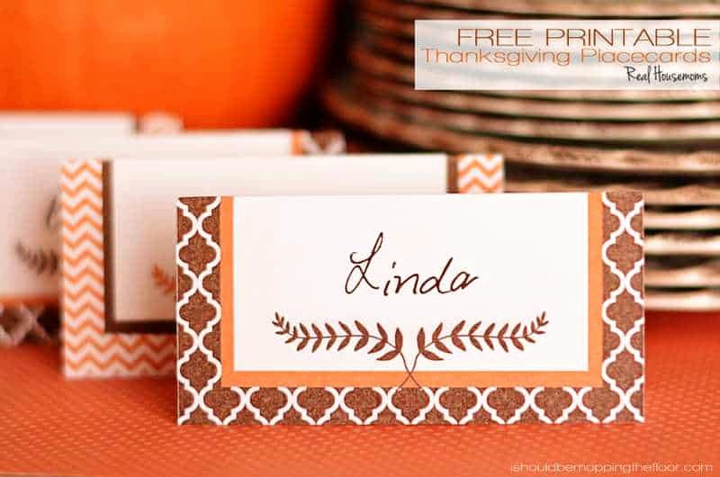 Free Printable Place Cards Best Of Free Printable Thanksgiving Placecards ⋆ Real Housemoms