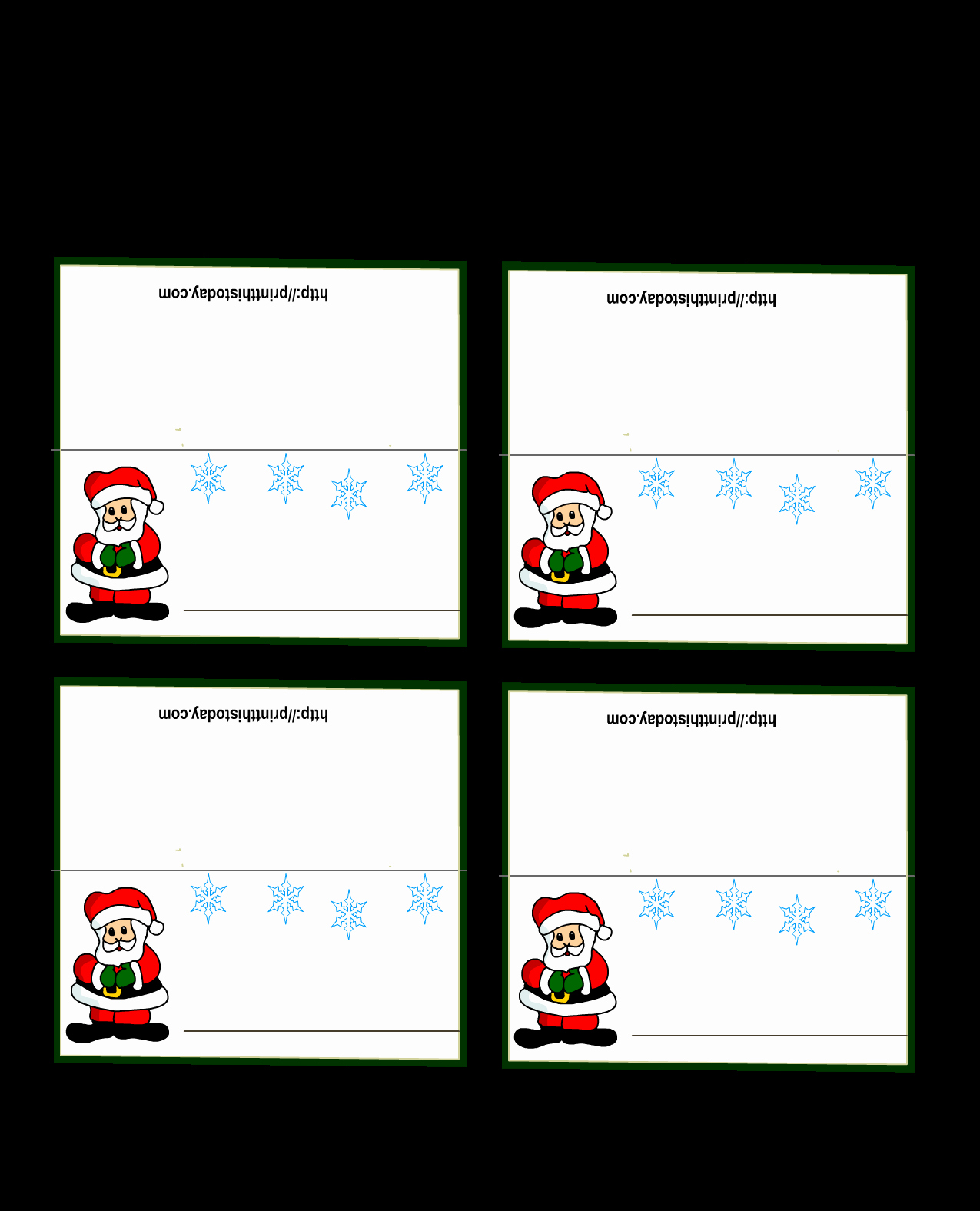 Free Printable Place Cards Elegant Free Printable Christmas Place Cards