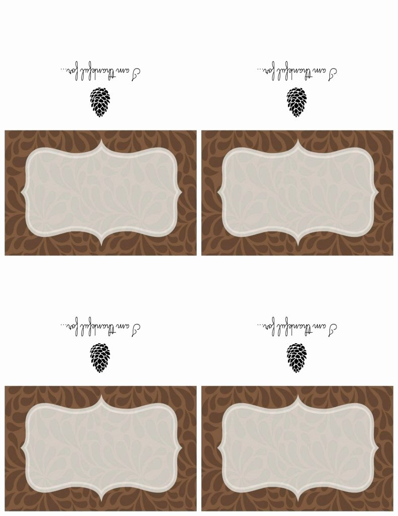 Free Printable Place Cards Elegant Printable Thanksgiving Place Cards & Chalkboard Sign