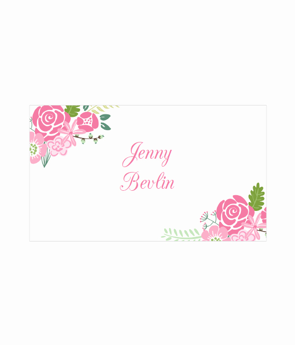 Free Printable Place Cards Fresh Floral Place Cards In 4 Colors Chicfetti