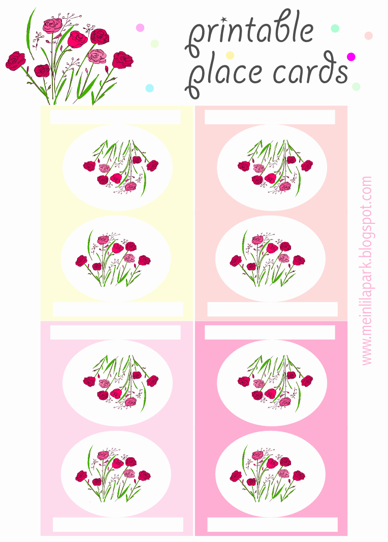 Free Printable Place Cards Fresh Free Printable Place Cards with Roses Ausdruckbare