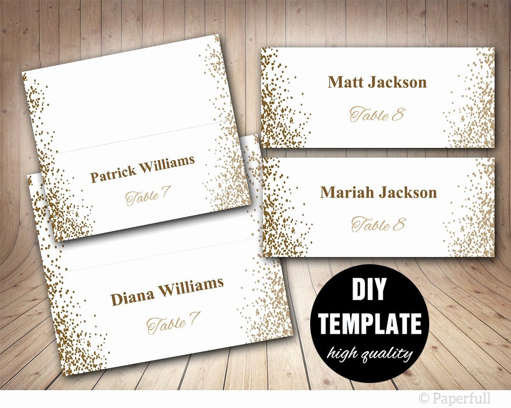 Free Printable Place Cards Fresh Printable Placecards Place Cards Weddinggold Wedding Place