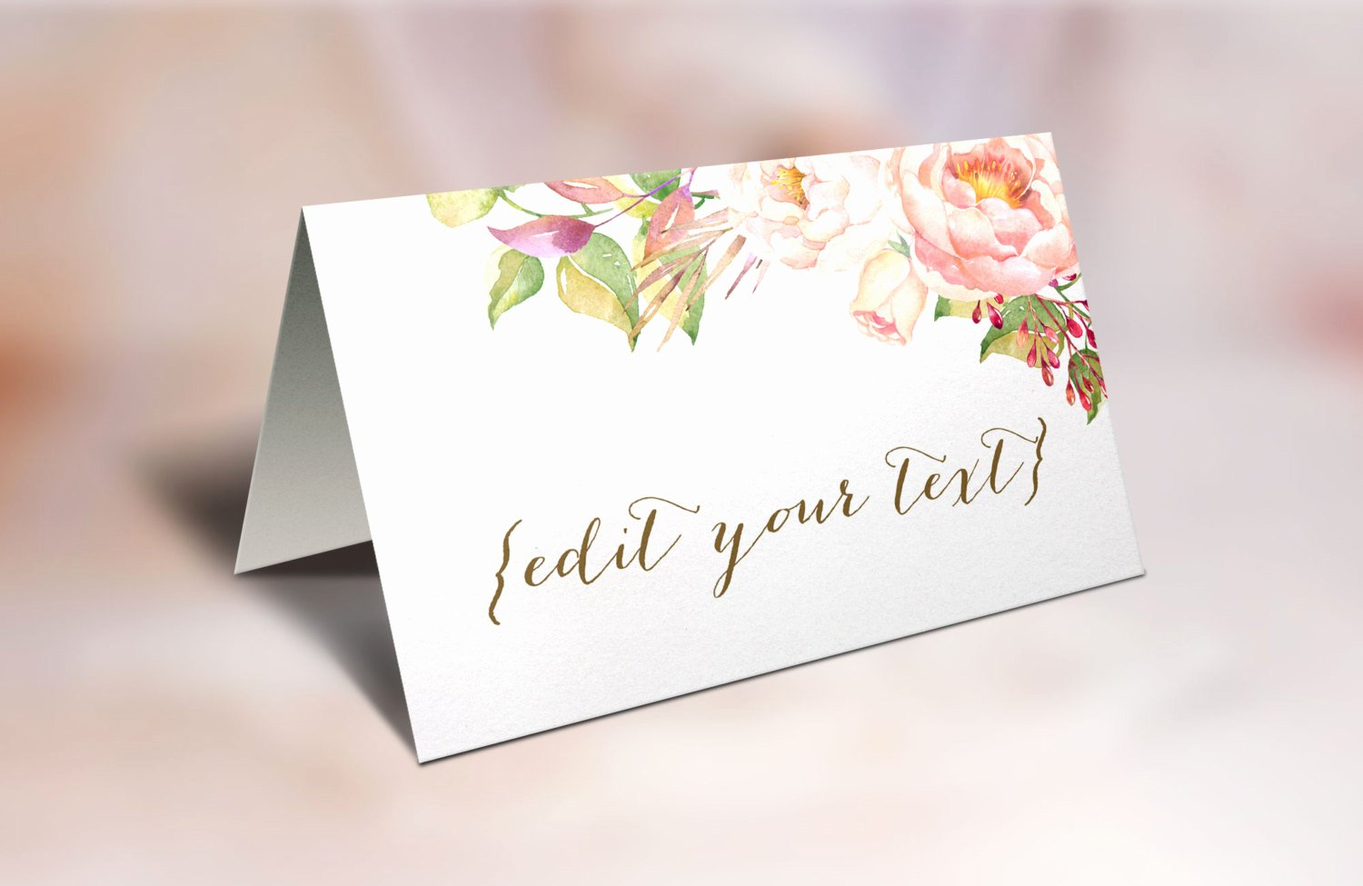 Free Printable Place Cards Inspirational Printable Place Cards Wedding Place Cards Floral Place Cards