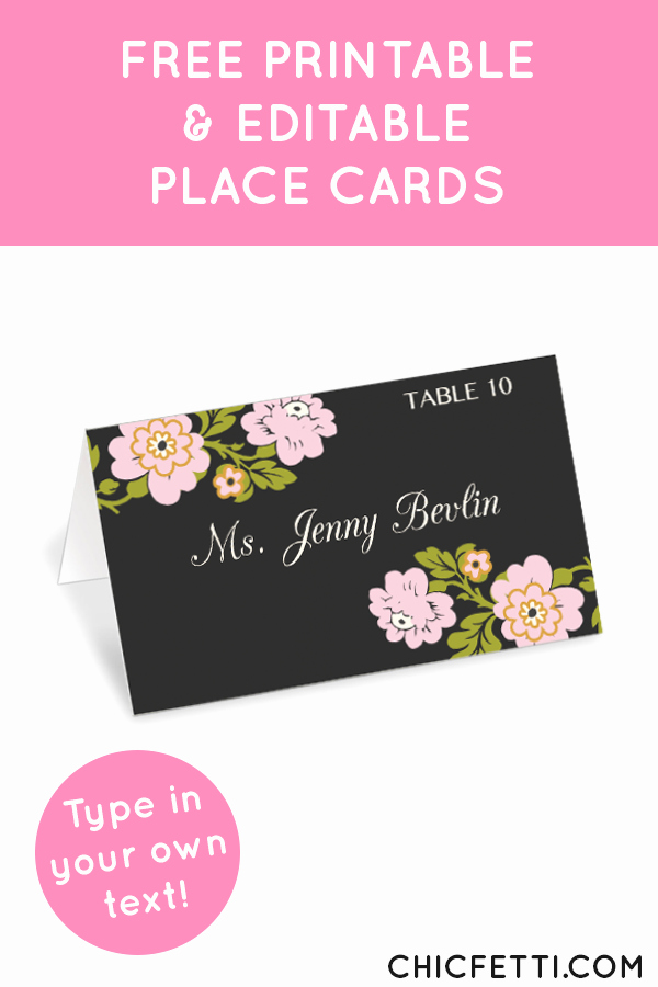 Free Printable Place Cards Inspirational Whimsical Botanical Place Cards