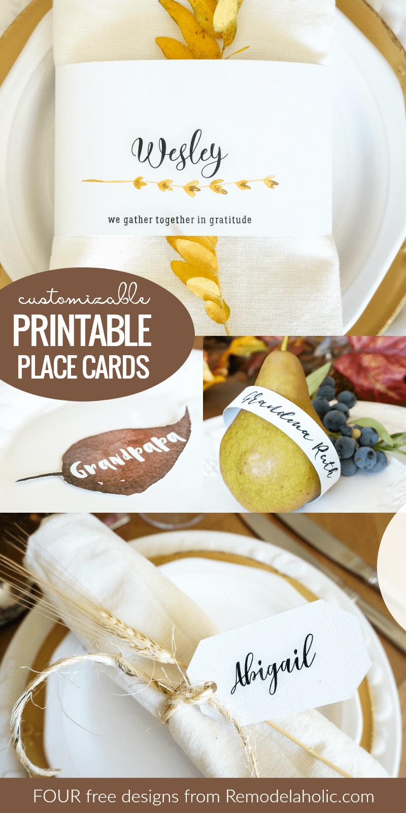 Free Printable Place Cards Luxury Remodelaholic
