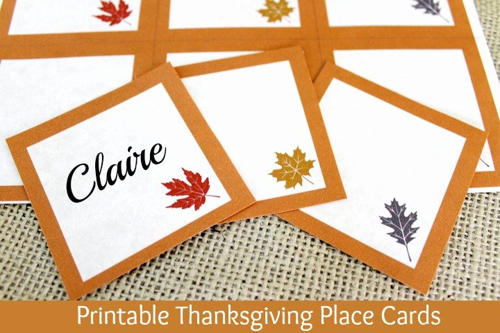 Free Printable Place Cards New Free Printable Thanksgiving Place Cards