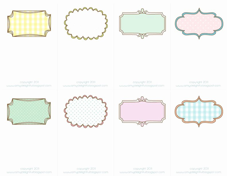 pretty printable place cards