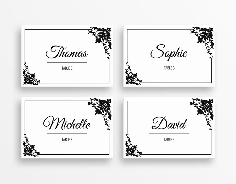 Free Printable Place Cards Unique Table Place Cards Template Table Place Cards Template Word