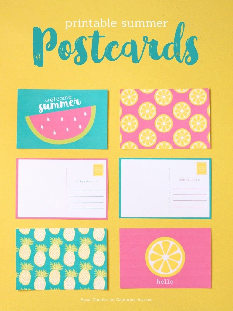 Free Printable Postcard Templates Best Of Printable Summer Postcards Printables