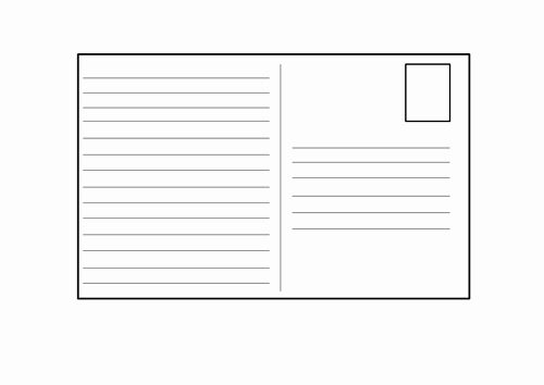 Free Printable Postcard Templates Lovely Blank Postcard Template by 4877jessie