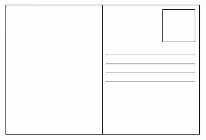 Free Printable Postcard Templates New 34 Blank Postcard Templates Psd Vector Eps Ai