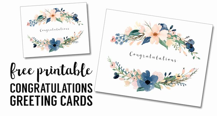 Free Printable Postcard Templates Unique Congratulations Card Printable Free Printable Greeting