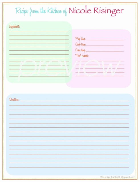 Free Printable Recipe Pages Beautiful A Living Sacrifice some Friday Love Recipe Binder Printable