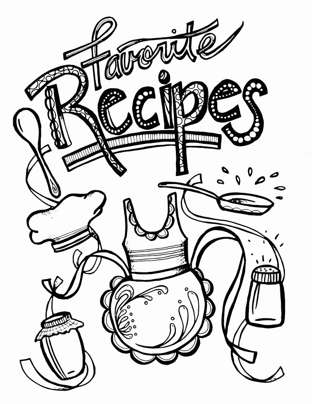 Free Printable Recipe Pages Beautiful Color In Recipe Binder Coloring Book for Grown Ups