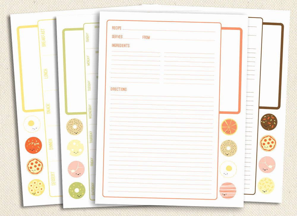 Free Printable Recipe Pages Beautiful Not so Square Meals Printable Recipe and Menu Planning Pages