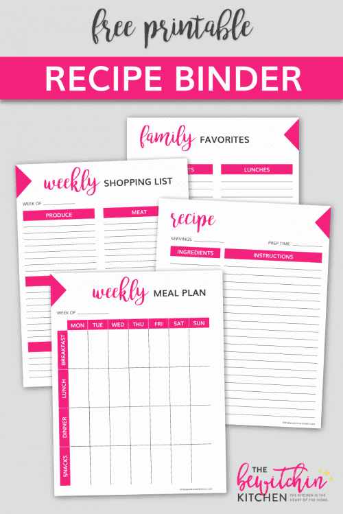 Free Printable Recipe Pages Elegant Free Recipe Binder Printable Download