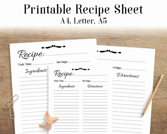 Free Printable Recipe Pages Elegant Recipe Sheet Printable Recipe Page Template Blank Recipe