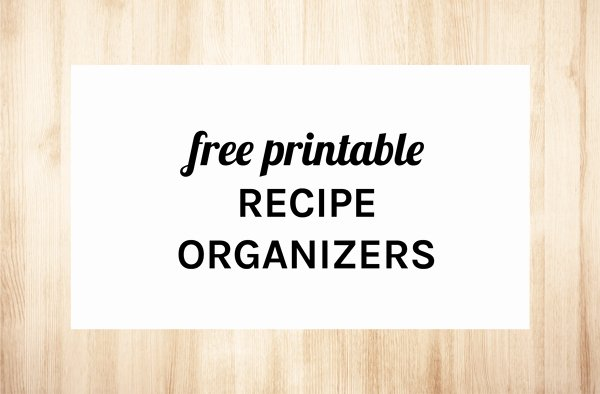 Free Printable Recipe Pages Luxury Home organizer Recipe Pages Eliza Ellis