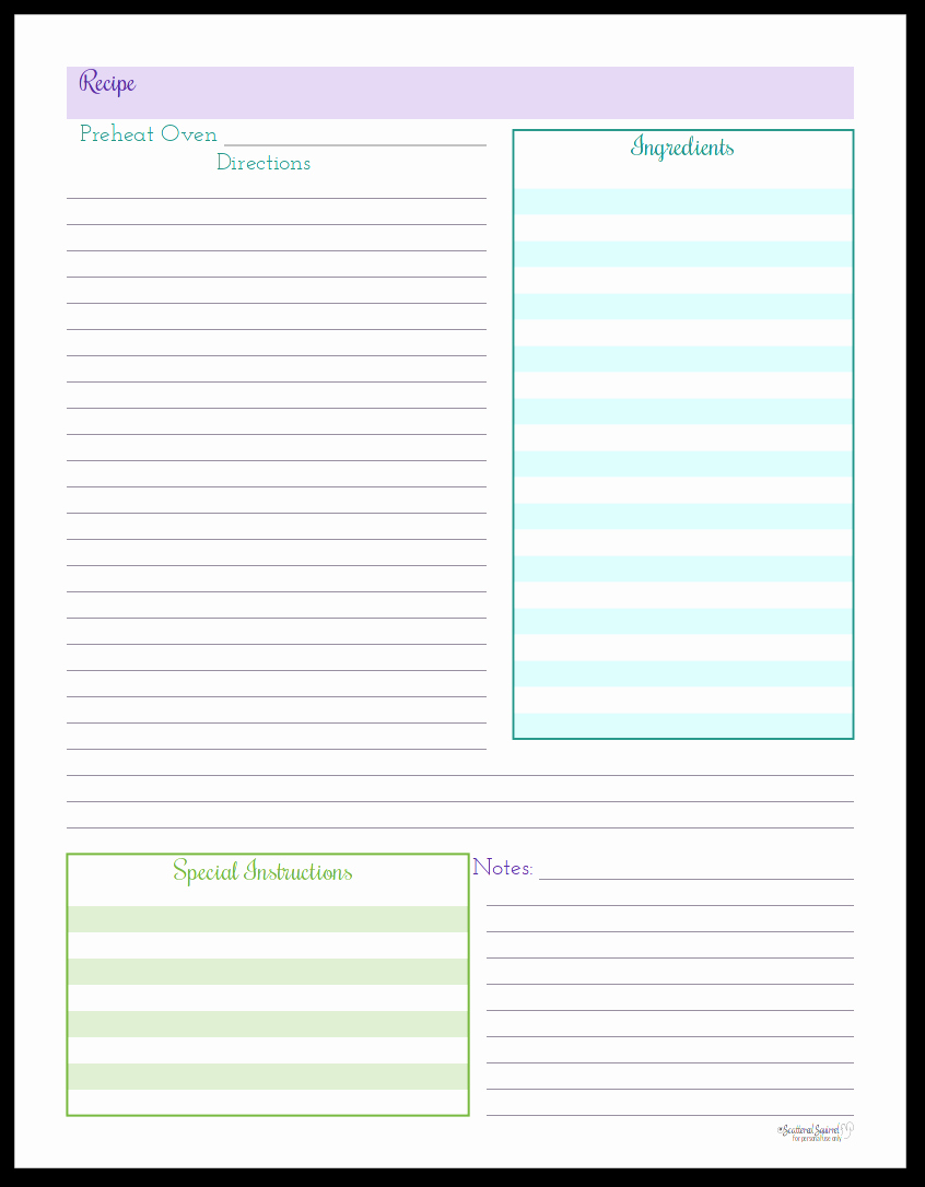 Free Printable Recipe Pages Luxury organize Your Recipes with these Handy Recipe Page Printables