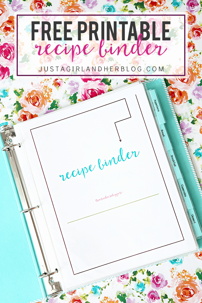 Free Printable Recipe Pages Unique Free Printable Recipe Binder Just A Girl and Her Blog