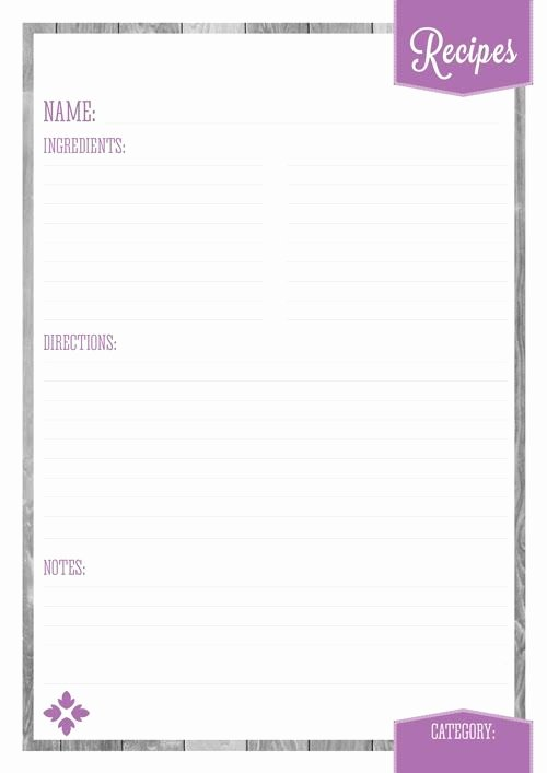Free Printable Recipe Pages Unique Home organizer Recipe Pages Eliza Ellis