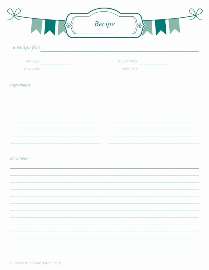 Free Printable Recipe Pages Unique Meal Planning Binder Recipe Pages