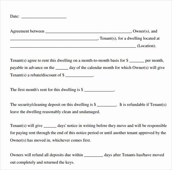 Free Printable Rental Agreement Beautiful Printable Lease Agreement
