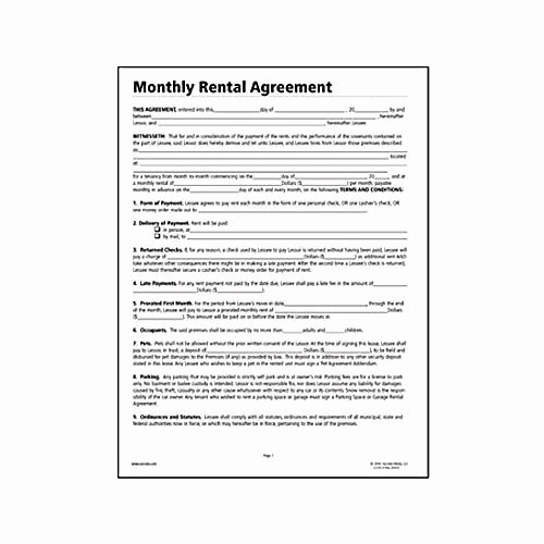 Free Printable Rental Agreement Elegant Free Lease Agreement forms