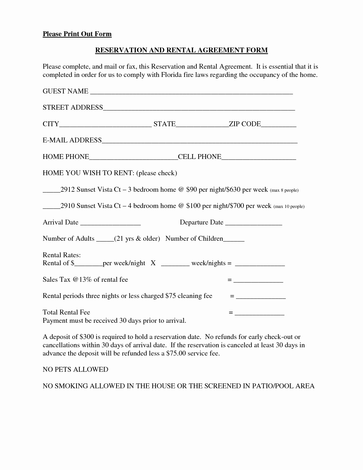 Free Printable Rental Agreement Fresh Lease Agreement form Free Printable Documents