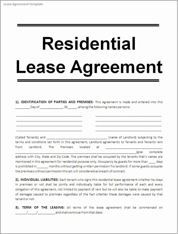 Free Printable Rental Agreement Fresh Printable Lease Agreement