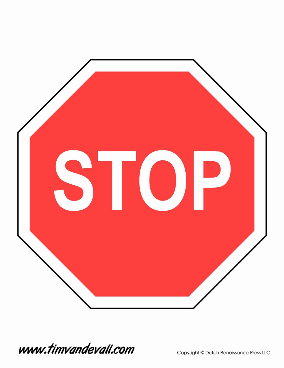Free Printable Sign Templates Awesome Stop Sign Template Tim Van De Vall