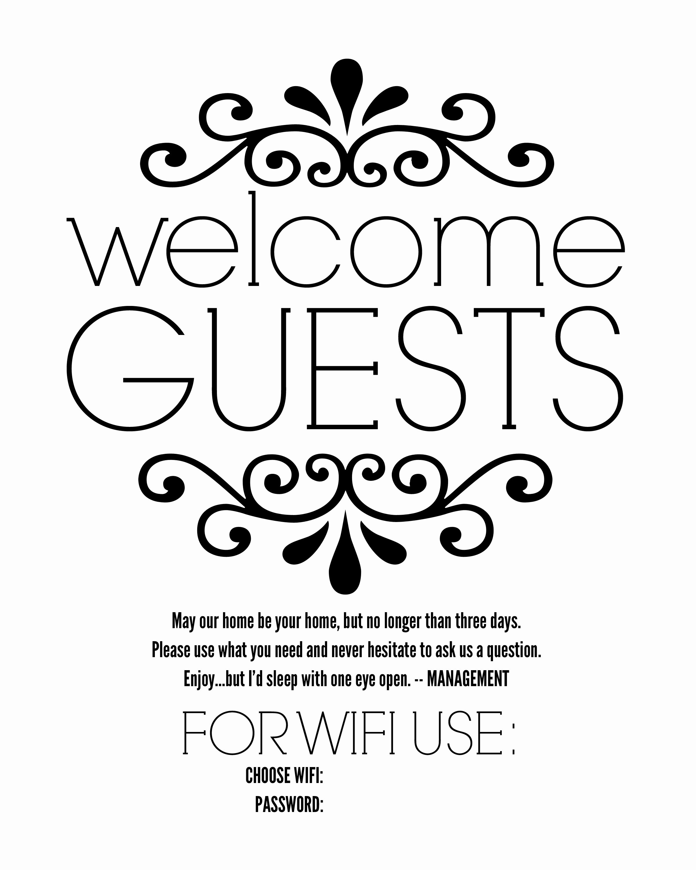 Free Printable Sign Templates Fresh Diy Guest Room Basket with Free Printable Sign