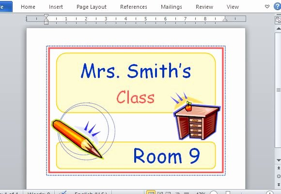 Free Printable Sign Templates Fresh Printable Classroom Sign Maker Templates for Word