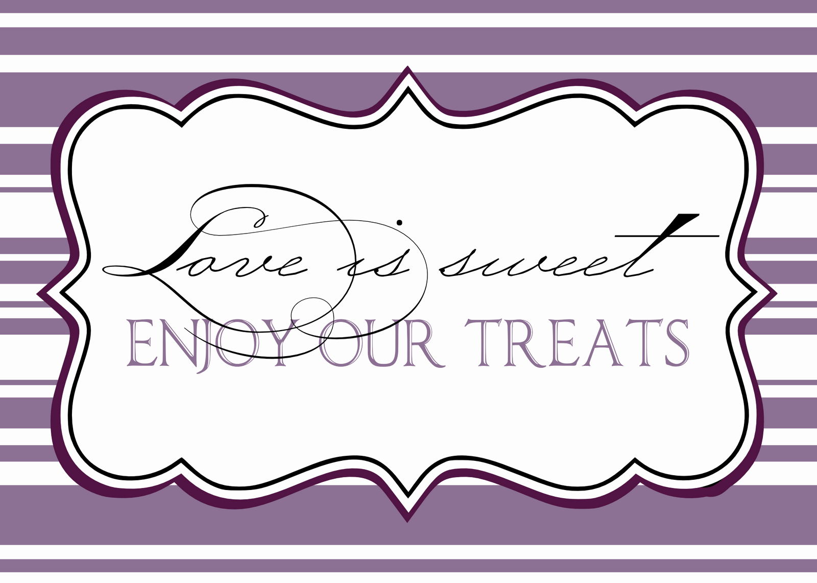 Free Printable Sign Templates Luxury Candy Buffet Signs Templates
