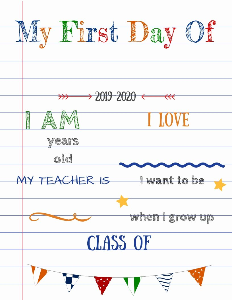 Free Printable Sign Templates New Editable First Day Of School Signs to Edit and