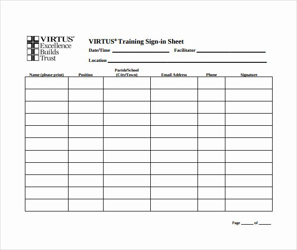 Free Printable Sign Templates New Sample School Sign In Sheet 12 Documents In Pdf