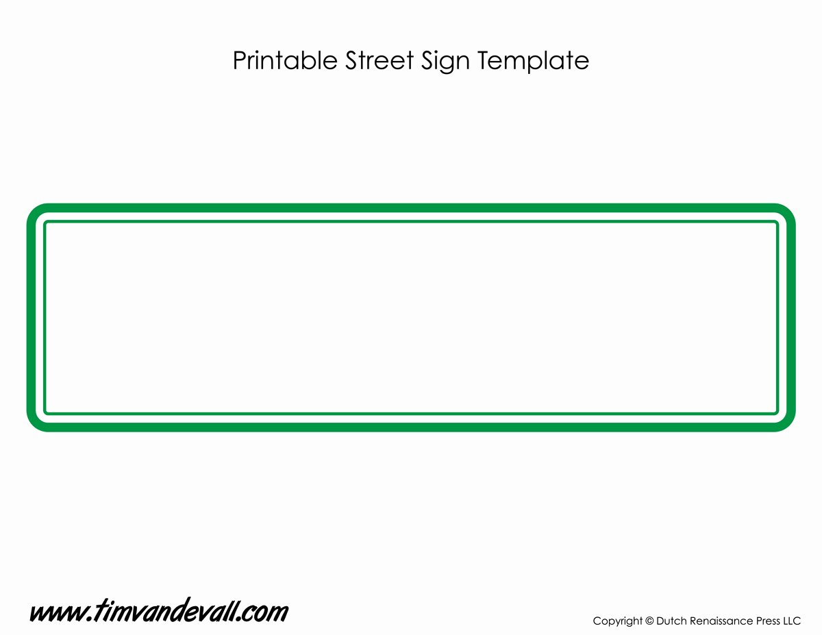 Free Printable Sign Templates New Street Sign Template Tim S Printables
