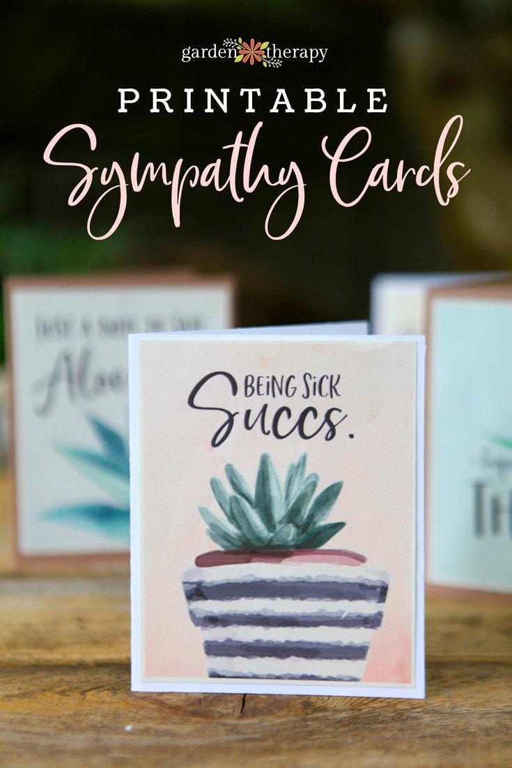 Free Printable Sympathy Cards Beautiful Punny Printable Sympathy Cards for Plant Lovers Garden