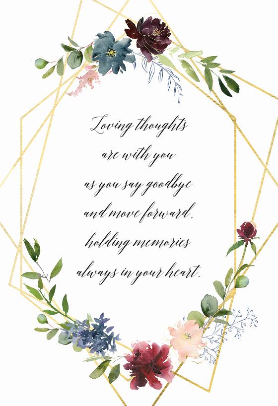 Free Printable Sympathy Cards Best Of Geometric & Flowers Sympathy & Condolences Card Free