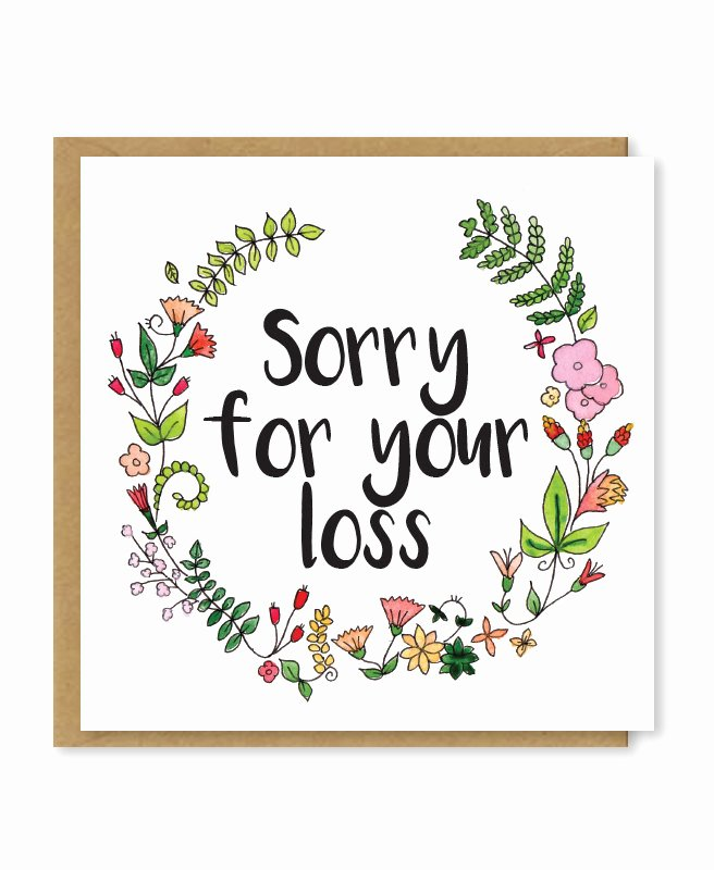 Free Printable Sympathy Cards Best Of sorry for Your Loss Sympathy Card Floral Bereavement