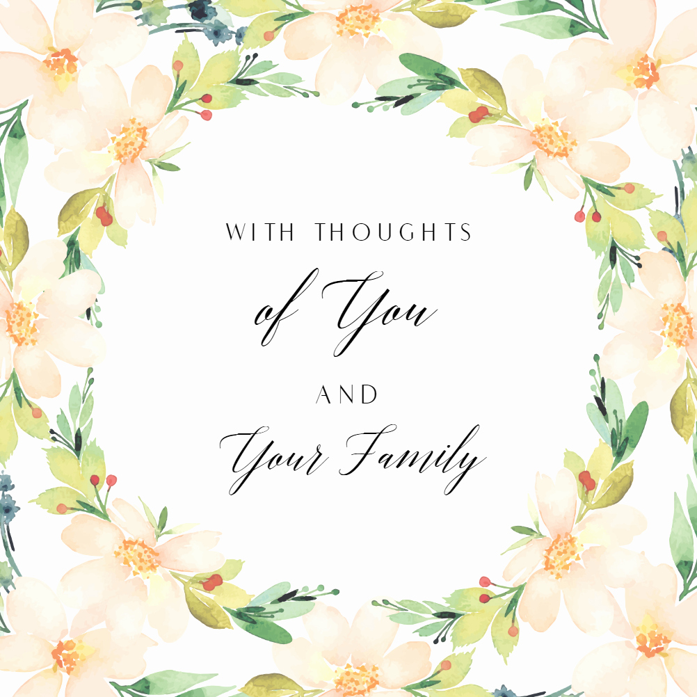 Free Printable Sympathy Cards Best Of You and Yours Sympathy & Condolences Card Free