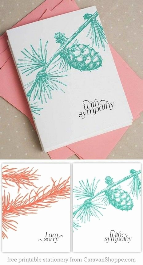 Free Printable Sympathy Cards Elegant Beautiful Free Sympathy Notecards From Caravan Shoppe