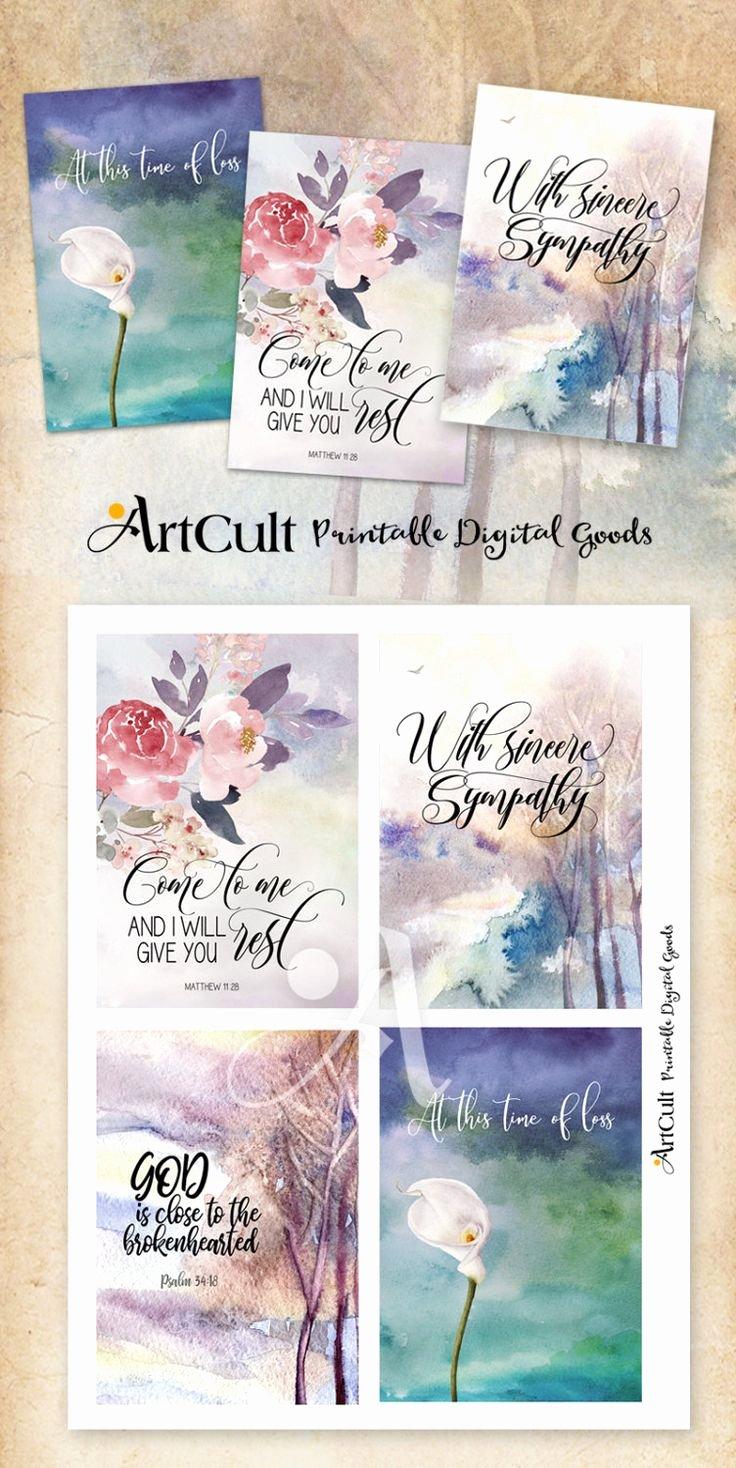 Free Printable Sympathy Cards Elegant Printable Sympathy Condolence Cards No 1 Digital