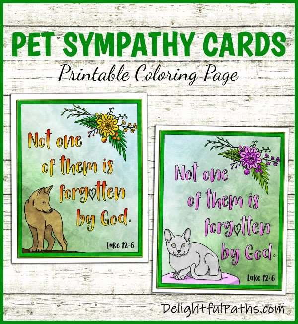 Free Printable Sympathy Cards Inspirational Printable Pet Sympathy Cards Delightful Paths