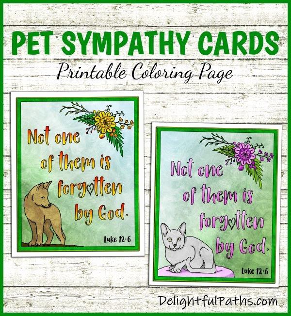 Free Printable Sympathy Cards Inspirational Printable Pet Sympathy Cards Delightful Paths