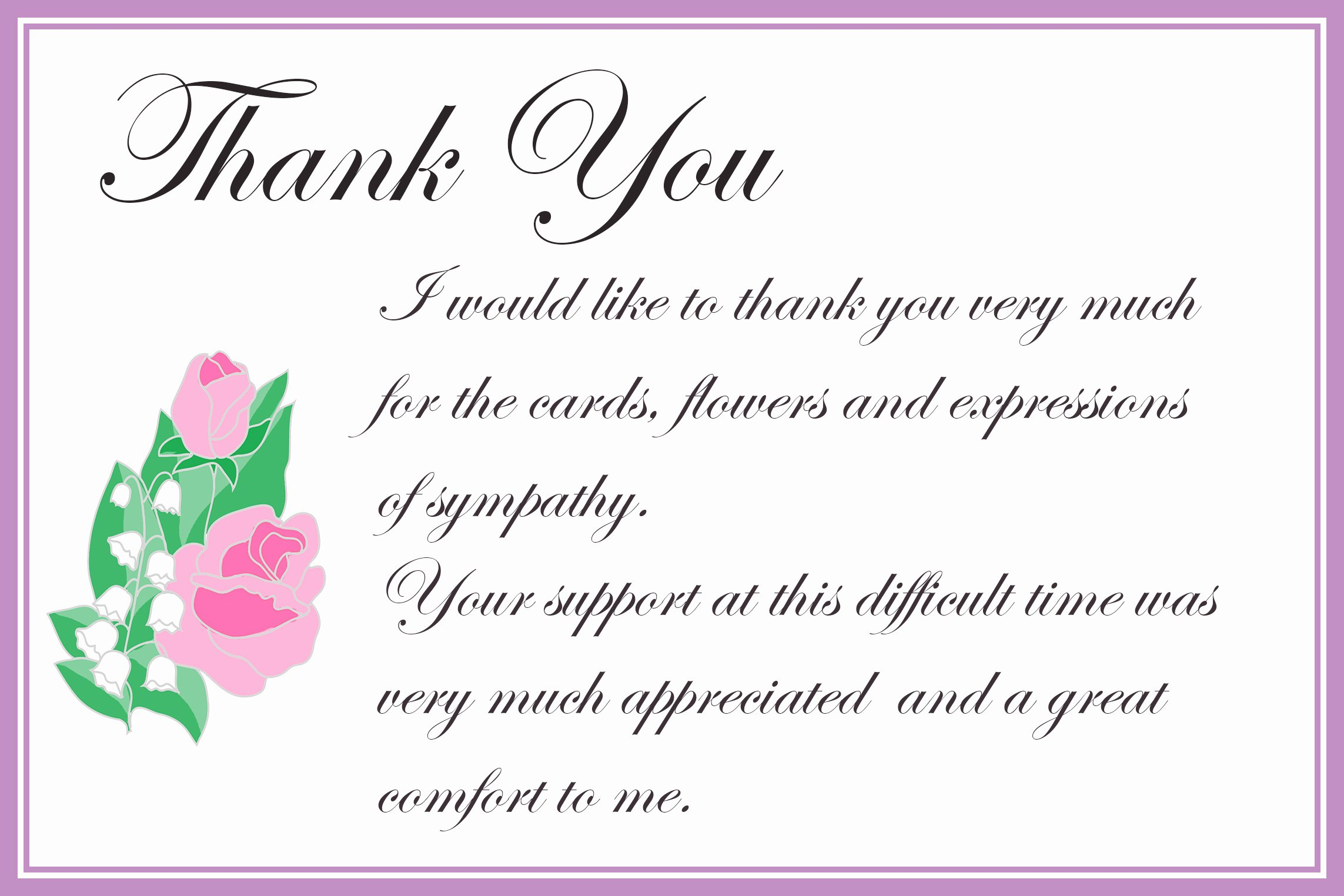 Free Printable Sympathy Cards Lovely Printable Thank You Cards – Free Printable Greeting Cards