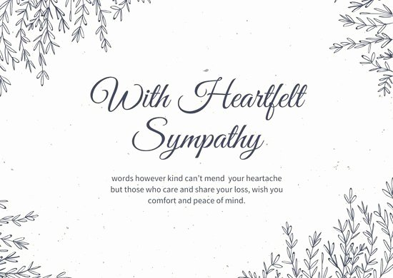 Free Printable Sympathy Cards Luxury Customize 111 Sympathy Card Templates Online Canva