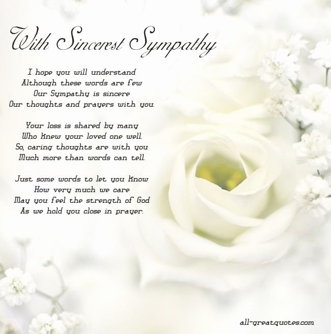 Free Printable Sympathy Cards New with sincerest Sympathy Free Sympathy Cards to